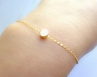 Ultimate Gold Dot Bracelet, Rose Gold bracelet or Silver Dot Bracelet, Layering Bracelet, Dainty Bracelet, Minimalist Bracelet