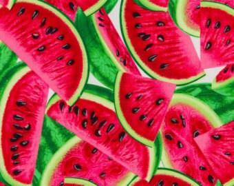 Watermelon Fabric by Timeless Treasures  - FRUIT-C1137 Red Fabric  / Fat Quarter / 1 Yard Cut  / 1/2 Yard Cuts