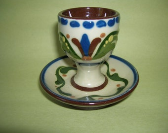Sweet Longpark Torquay Pottery Scandy Motto Ware Eggcup