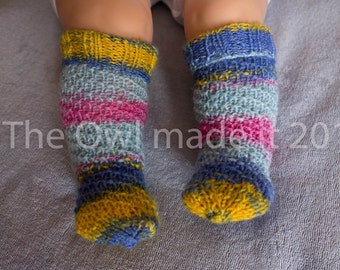 Newborn socks Baby girl socks Toddler girl Kidswear knit baby socks baby wool socks baby knee high socks kids fall leg warmers UK seller