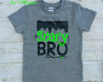 Scary Bro Shirt, Halloween Shirt, Boys Halloween Shirt, Frankenstein Shirt, Boys Shirt, Toddler Boy Shirt, Boy Shirt