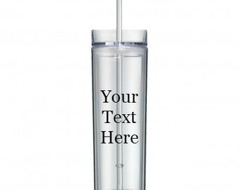 Design and Create Your Own 16 oz Clear Double Walled Acrylic Tumbler