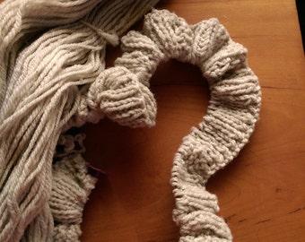 100% Romeldale CVM Yarn Light Gray Worsted Weight