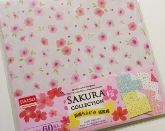 60 Sheets of Reversible Floral Paper - For Origami and Other Crafts