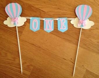 Hot air balloon cake topper,Hot air balloon, cake toppers, Smash cake toppers, Hot air balloon smash cake topper
