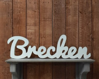 Baby Boy Name Wooden Sign - Nursery Decor - Baby name signs for baby showers and home decor