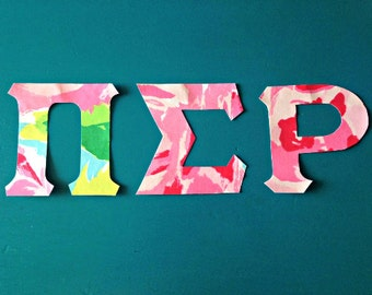 custom lilly pulitzer applique iron on greek letters