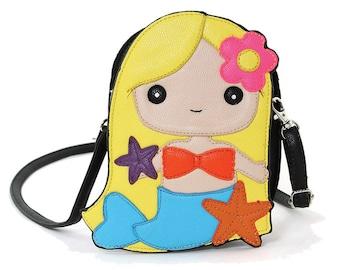 Mermaid Girl Crossbody/Shoulder Bag Blonde or Brunette