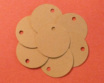 100 blank tags mini tags jewelry tags gift tags price tags hang tags seller supplies product tags labels round kraft tags merchandise tags