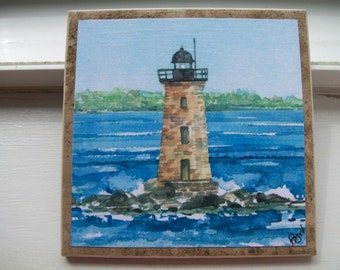 Whaleback Lighthouse, Kittery, ME - NoZoo Art Studio