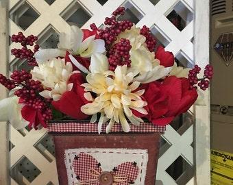 Wooden Artificial floral Arrangement