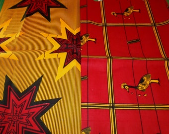 2 fat Quarters - African Wax Print