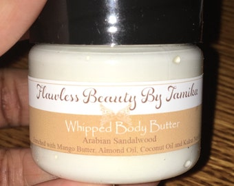Mango & Shea Body Butter whipped with Kukui Nut Oil, Almond Oil and Coconut Oil. Absorbs quickly with no greasy feel (Mini 1oz)