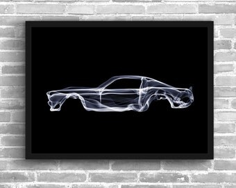 Ford Mustang Art Wall Art Classic Car Man Cave Muscle Car Gift For Him Automotive Art Mustang Art Car Art Home Decor Ford Mustang Décor