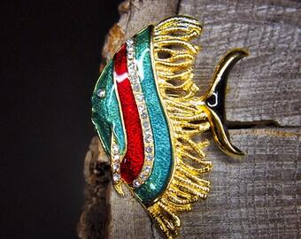 Angel Fish Brooch #5473