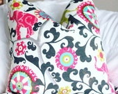 pk lifestyles, elephant print outdoor fabric, outdoor decor, menagerie spectrum, bright pillow, outdoor pillow, elephant pillow