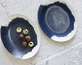 Ceramic Oval Platter, Serving Dish, table centerpiece,