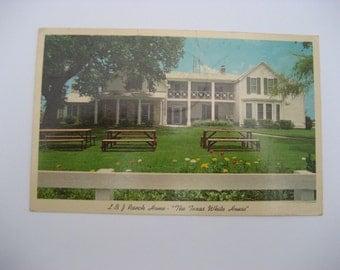 Texas  Postcard Paper Ephemera Used  Vintage LBJ Ranch Home Postcard Used Paper Ephemera The  Texas White House Postcard