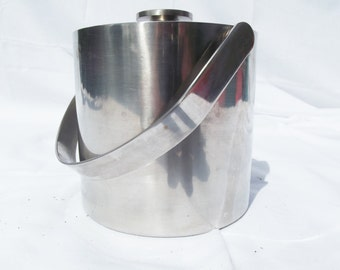 Wonderful 70'S inox quality Ice bucket, retro vintage ice bucket