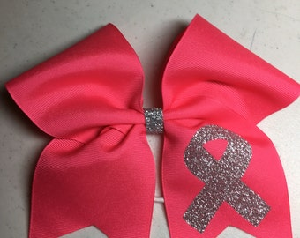 Breast Cancer Awareness Bow - Hot Pink      Ready to Ship Immediately