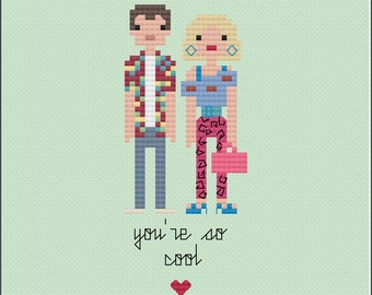8-Bit Wonder - True Romance PDF Cross-Stitch Pattern