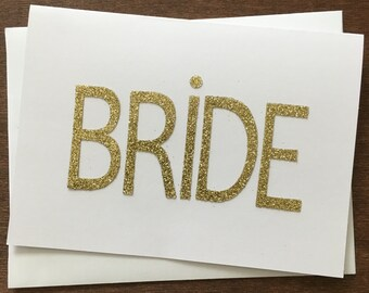 Bride Card, Card for the Bride, Wedding Day Card to give to the Bride, Bride, Wedding