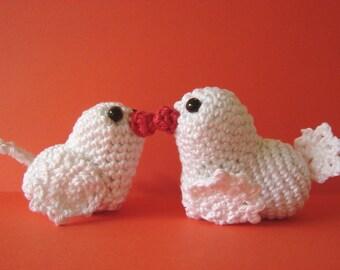 Love birds crochet pattern | Valentine's day | crochet pattern heart | romantic pattern | heart | bird | amigurumi Valentine | heart birds