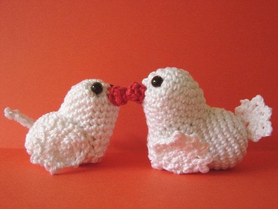 Love birds crochet pattern amigurumi birds crochet pattern