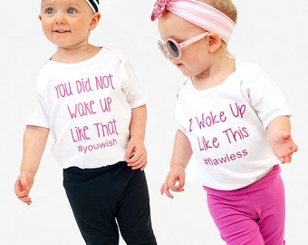 Twin Baby Bodysuit Set - Twins Shirts - Toddler Tshirt - Baby Bodysuit - Twin Baby Gift - Funny Baby Bodysuit - Twin Baby Shower Gift