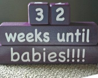 Babies Countdown Blocks, Pregnancy Countdown Blocks