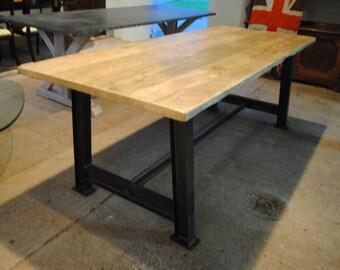 Industrial Metal Rustic Reclaim Bespoke Dining Table