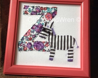 Patchwork Animal Initial/Letter - 'Z is for Zebra'
