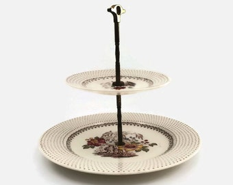 Two Tiered Server by Royal China Chippendale China