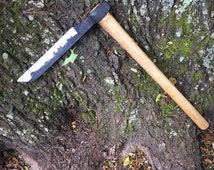 Froe - frow - hand forged froe - woodworking tool- shingle froe - woodworking - shake axe - axe - wood carving
