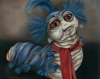 Labyrinth Worm Oil Painting Print
