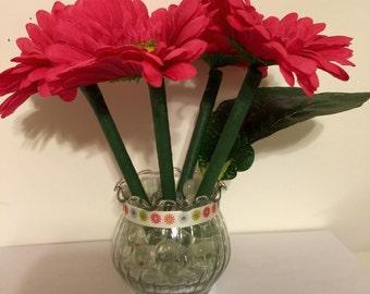 Daisy Flower Pen Pot / Wedding, Shower or Office Gift