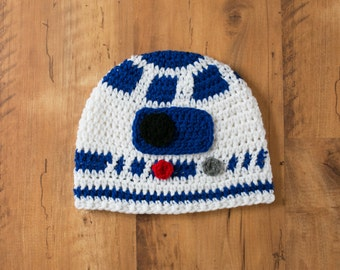 R2D2 Hat, R2D2 Crochet Hat, Star Wars R2D2, R2D2, R2D2 Beanie, Crochet R2D2, Star Wars Hat, Star Wars Droid Hat