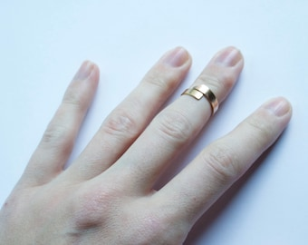 Two Tone Midi Ring, Brass and Bronze Midi Ring