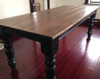 "Modern Provincial Farm Table with 5"" Legs"