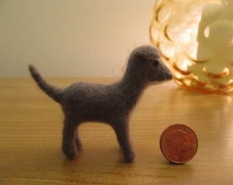 handmade needlefelt dog, miniature