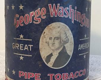 George Washington pipe tabacco tin
