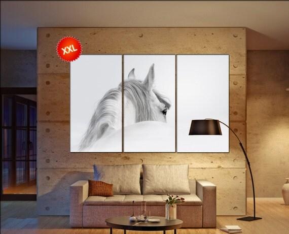 white horse  canvas wall art white horse wall decoration white horse canvas wall art art white horse large canvas wall art  wall decor