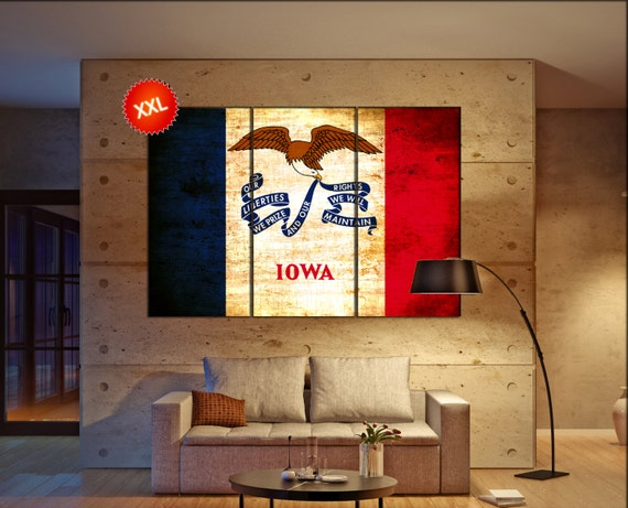 iowa state flag  canvas iowa state flag  wall decoration iowa state flag  canvas art iowa state flag  large canvas
