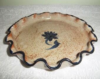 Tart dish, pie dish handmade pottery – French vintage, French décor – Petit Plat à tarte