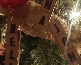 Personalized Name Scrabble Piece Ornament