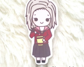 ZOMBIE GIRL Bookmark - Cute Paperclip