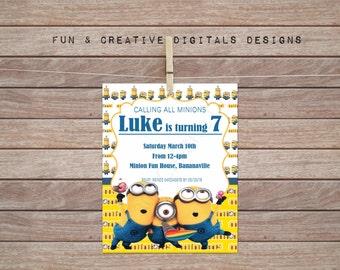 Minion Invitation