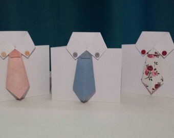 Hand Made Shirt and Tie Card. *Fathers Day* Birthday* Just to Say
