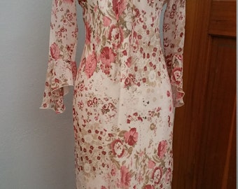 Bohemian Style soft Pink Dress by Giorgio Fiorlini. Size 6