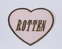 Rotten Heart Iron On Patch